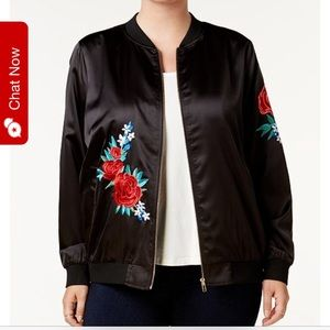 Trendy Embroidered Bomber Jacket